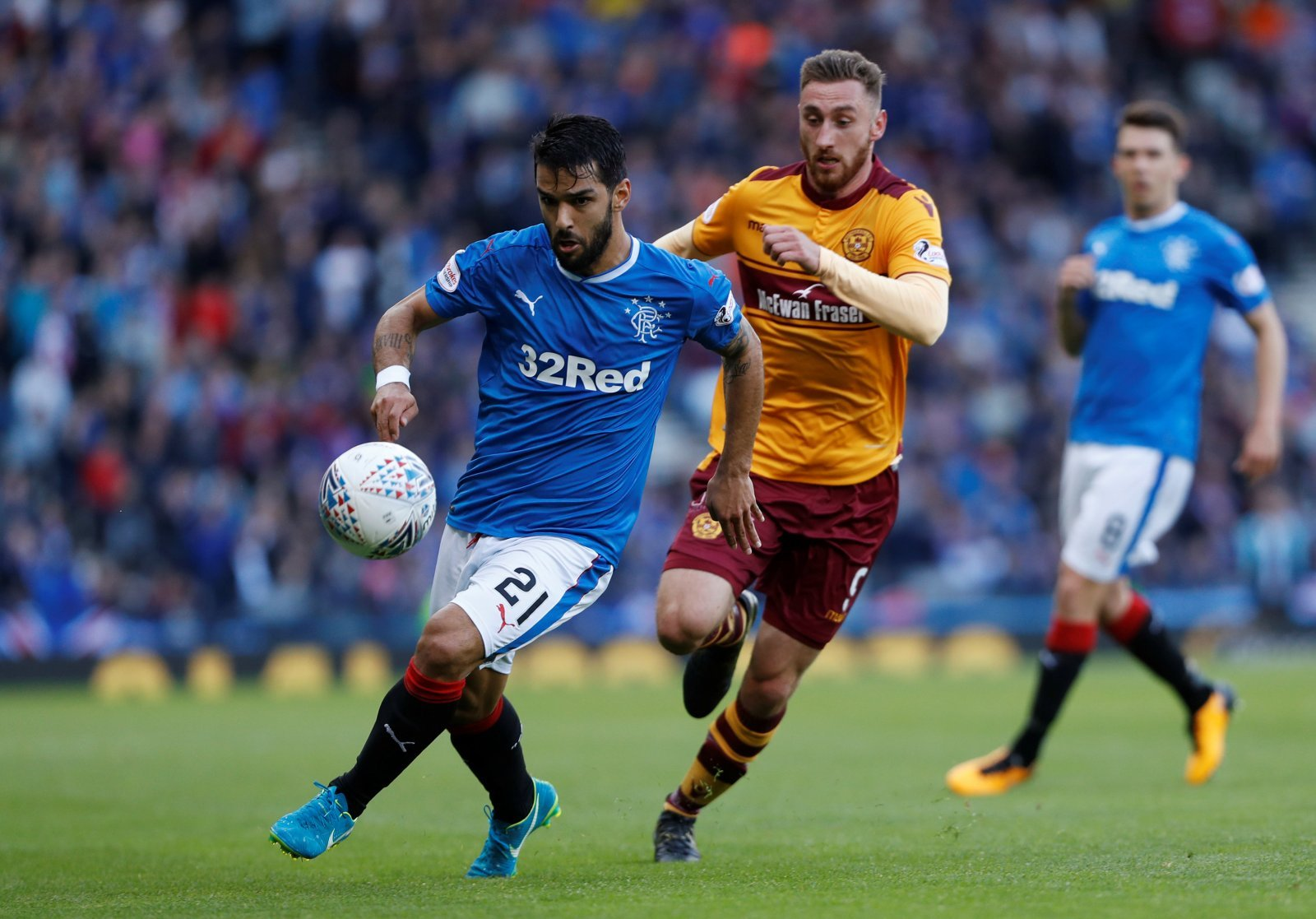 Daniel Candeias must start for Rangers against Motherwell