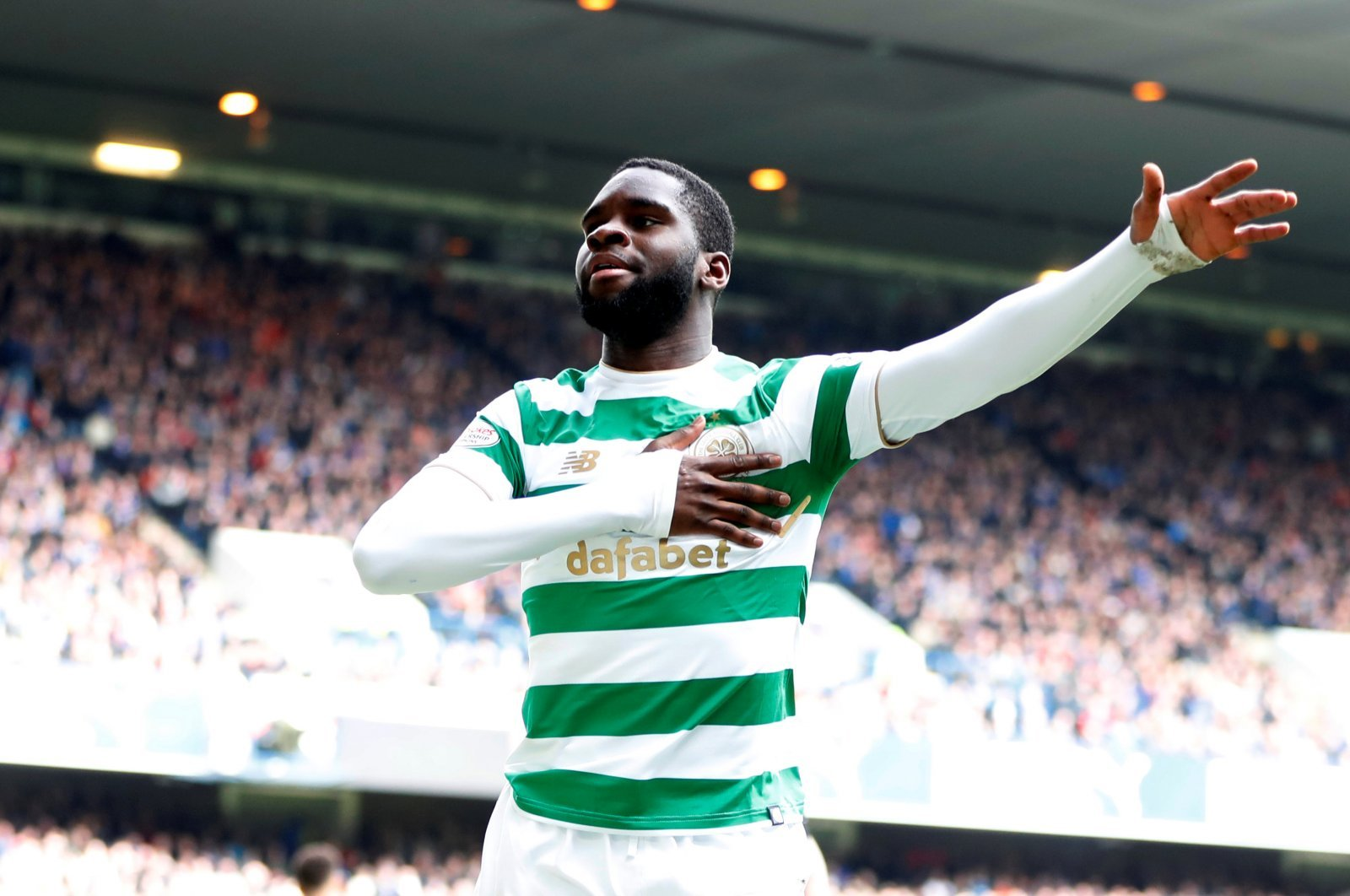 Celtic: Fans react to Odsonne Edouard's double on international debut