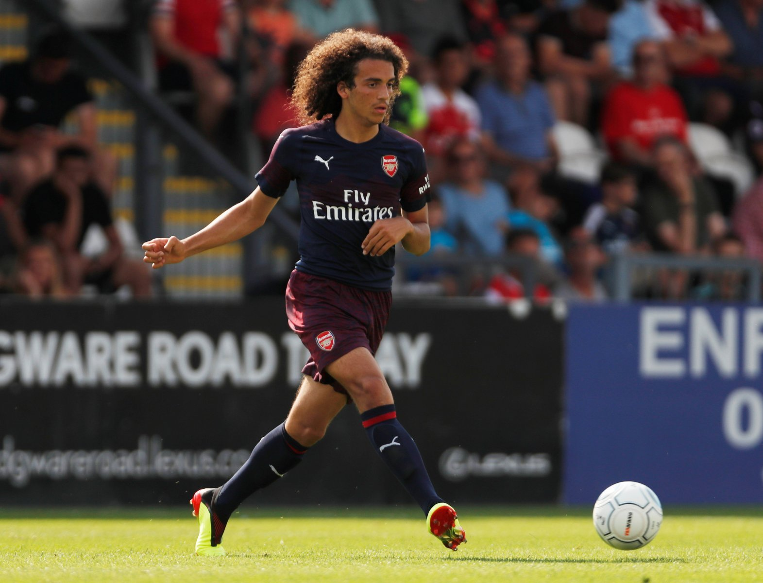Arsenal fans on social media have likened Guendouzi to Gullit following Atletico friendly