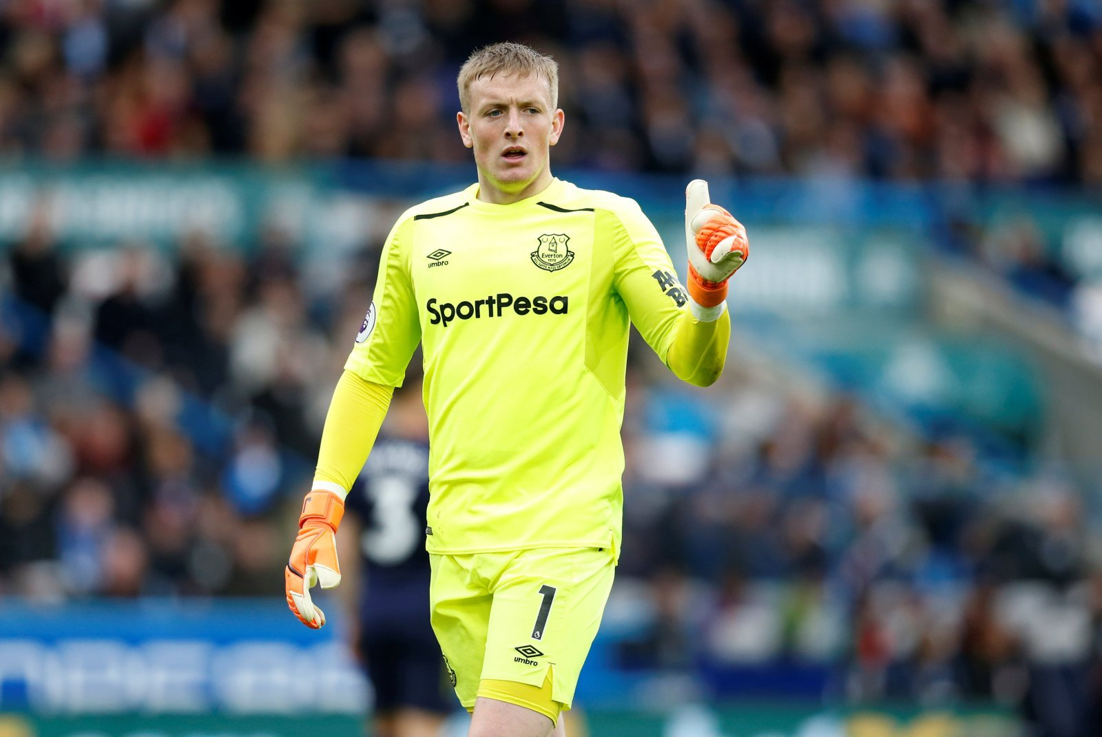 Chelsea fans want Jordan Pickford to replace Thibaut Courtois this summer