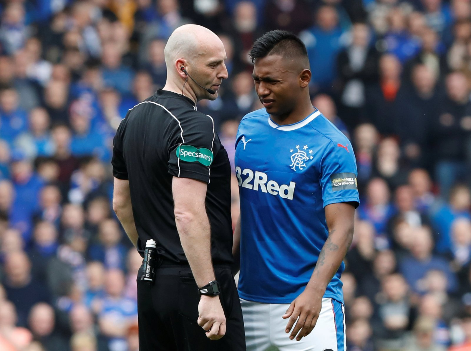 Rangers fans are furious with Alfredo Morelos