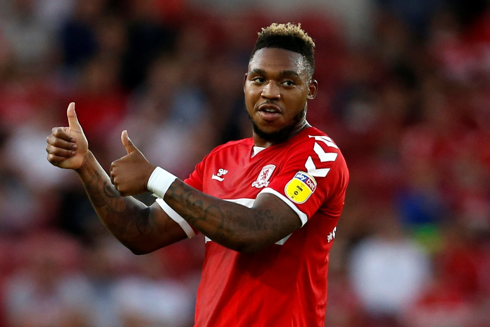 Middlesbrough fans on Twitter appreciative of Assombalonga's tireless display versus Leeds