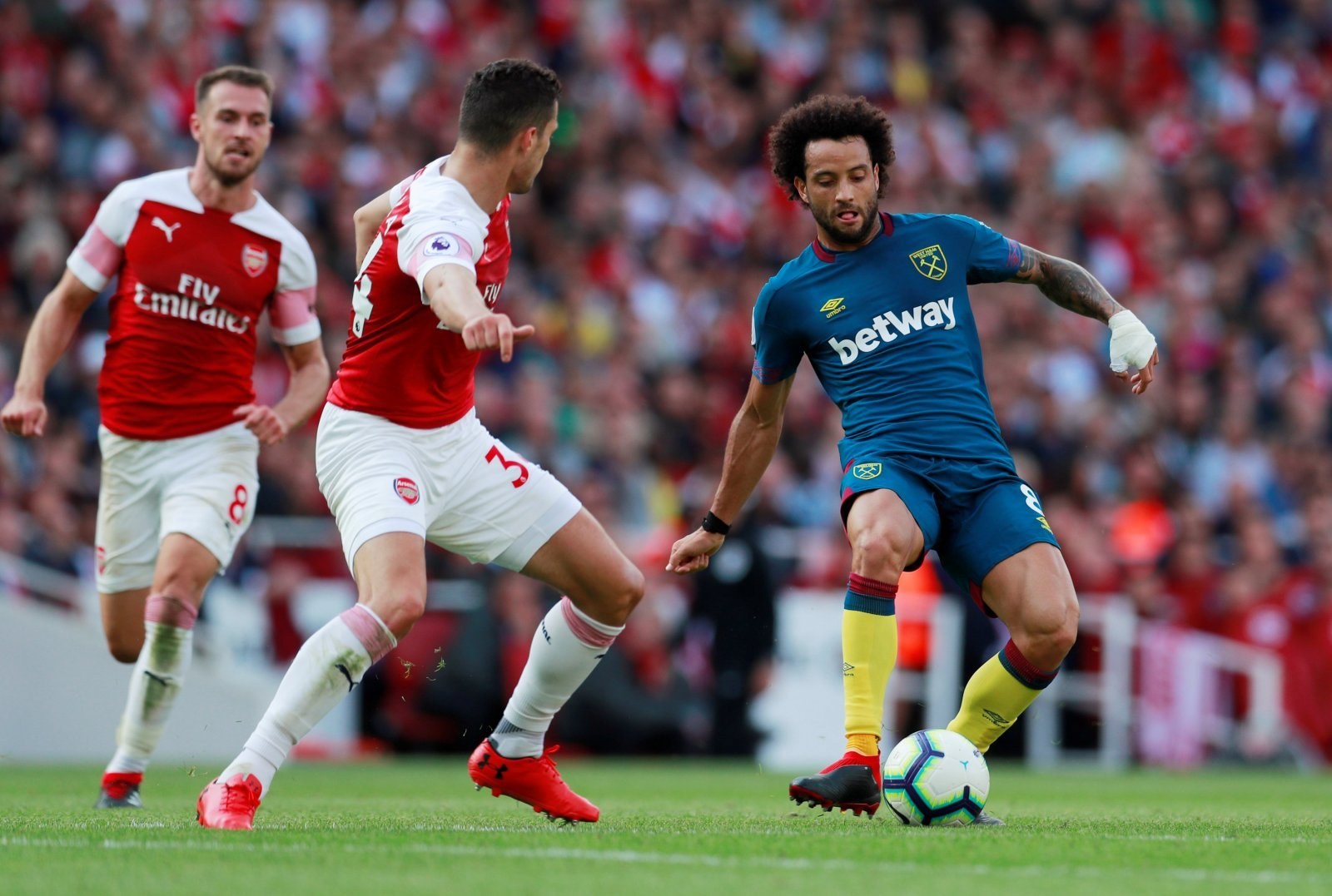 Monreal and Welbeck scored for Arsenal, but Xhaka was their unsung hero in West Ham win
