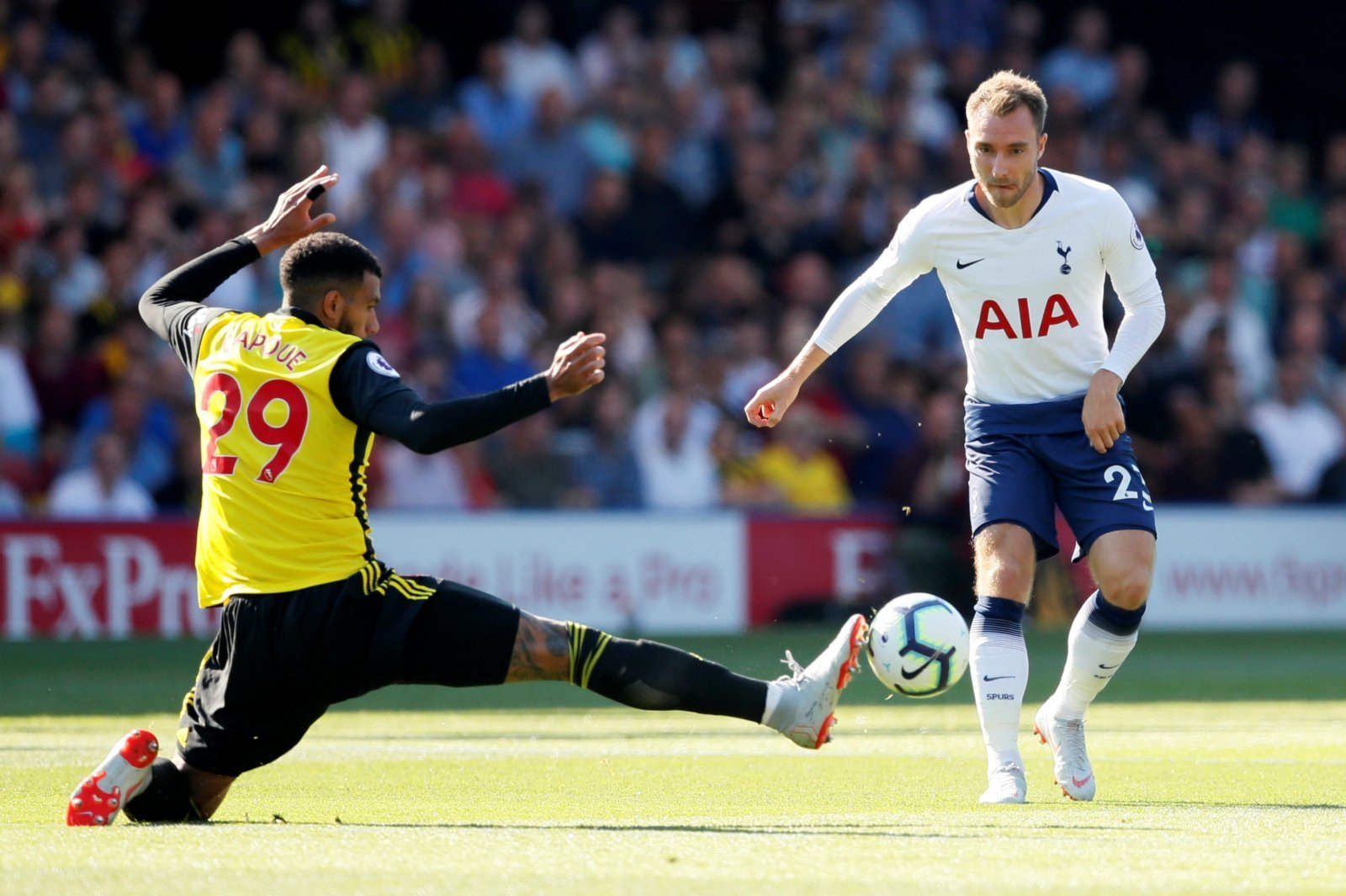 Tottenham fans react as Christian Eriksen nets brace for Denmark