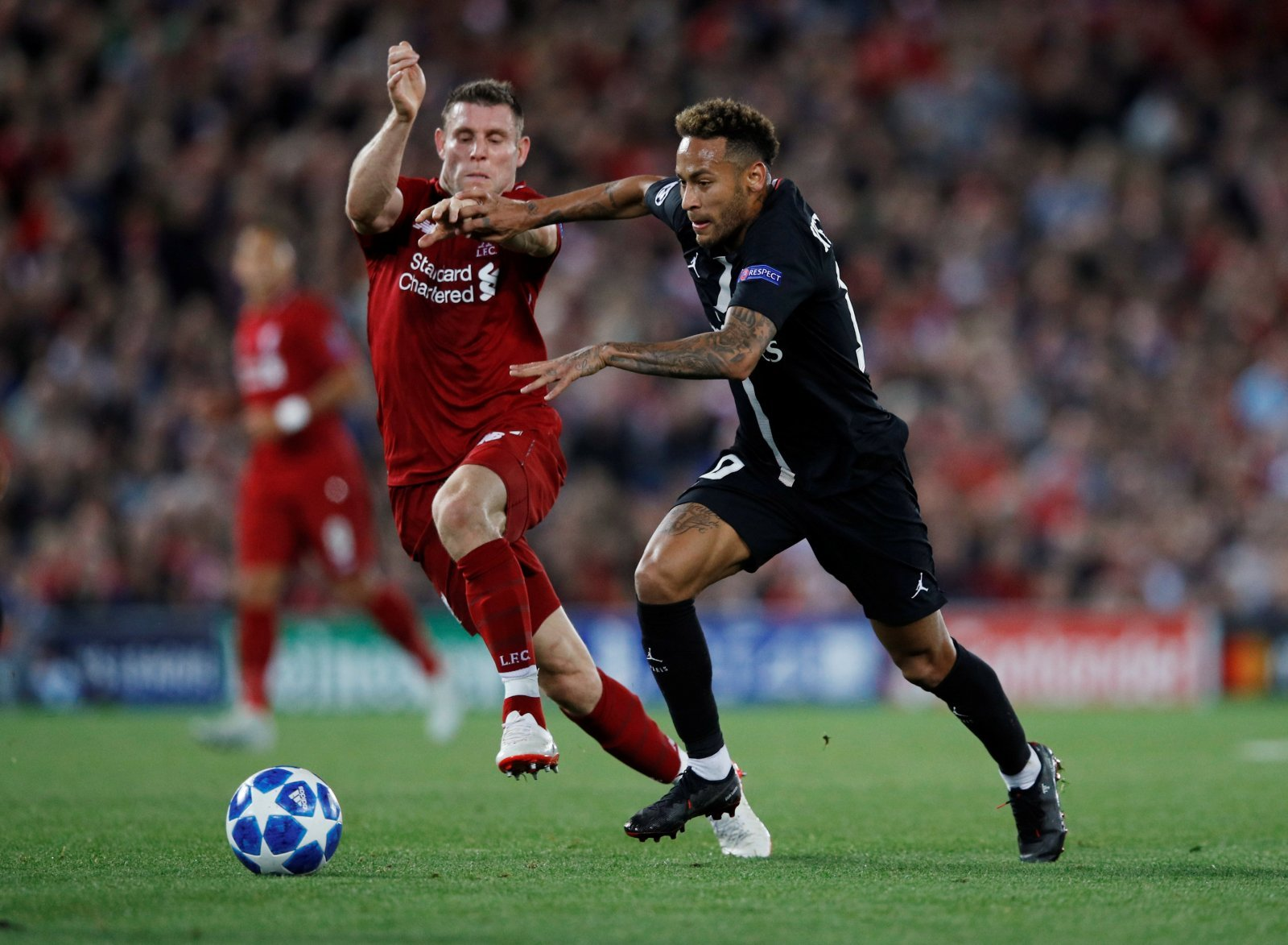 James Milner's tackle on Neymar proves what different worlds Liverpool and PSG are in