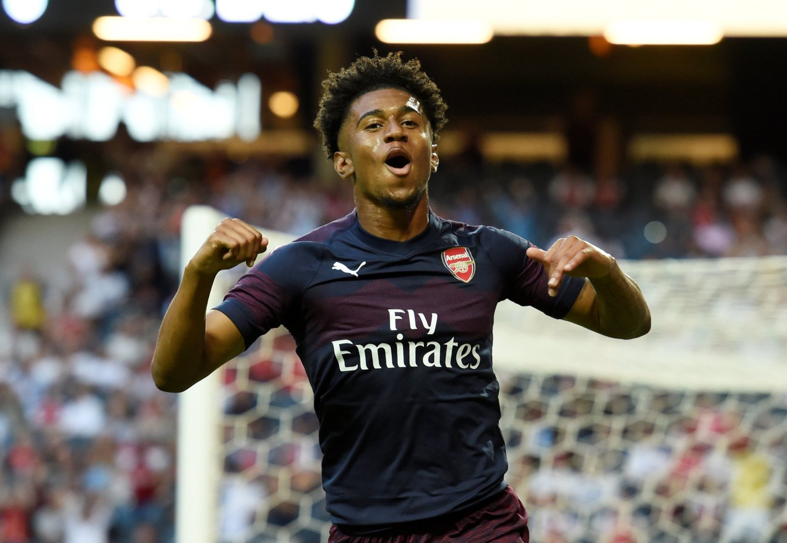 Reiss Nelson's debut goal for Hoffenheim has left Arsenal fans buzzing