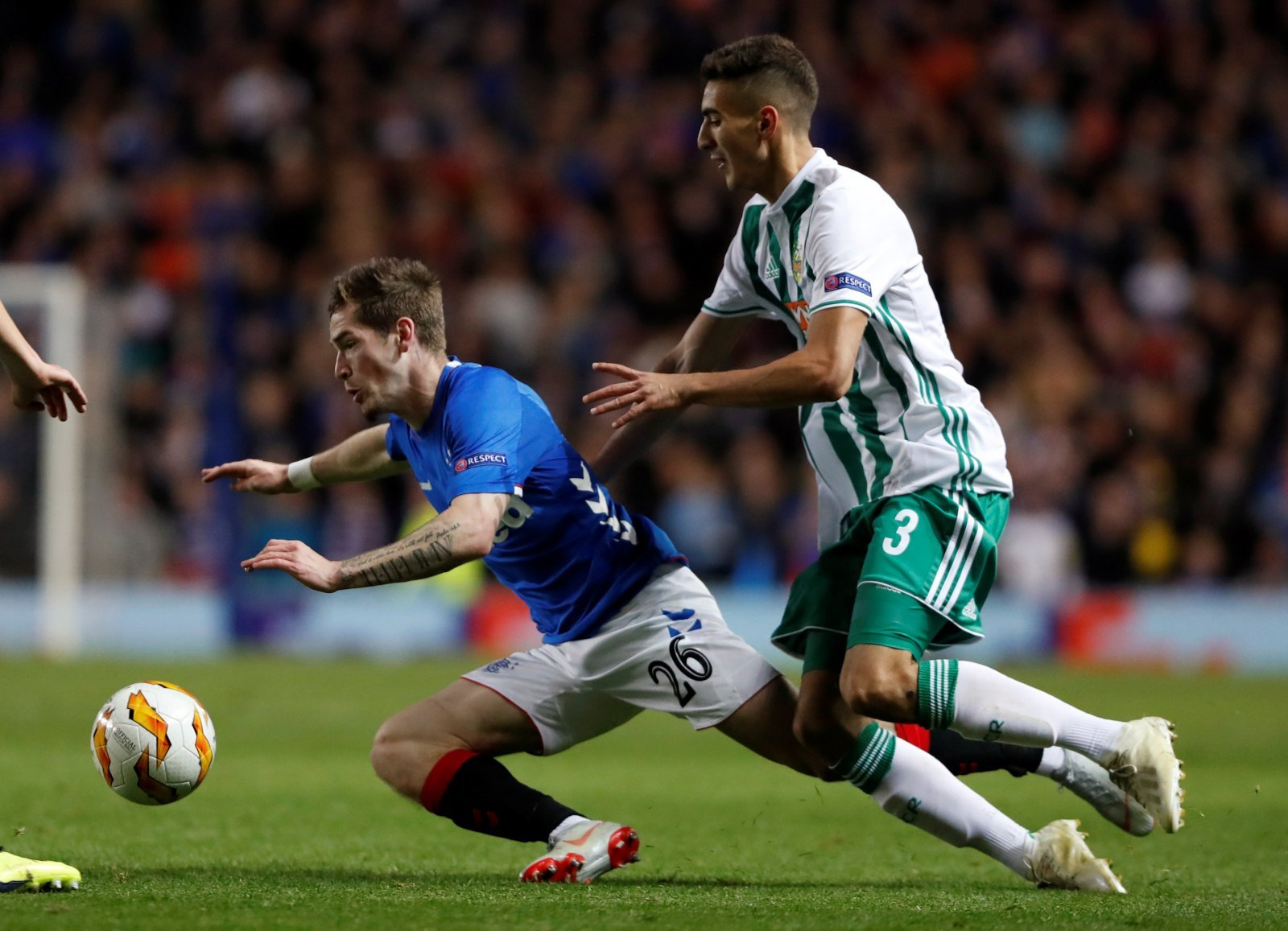 Rangers fans were loving Ryan Kent after victory over Rapid Vienna