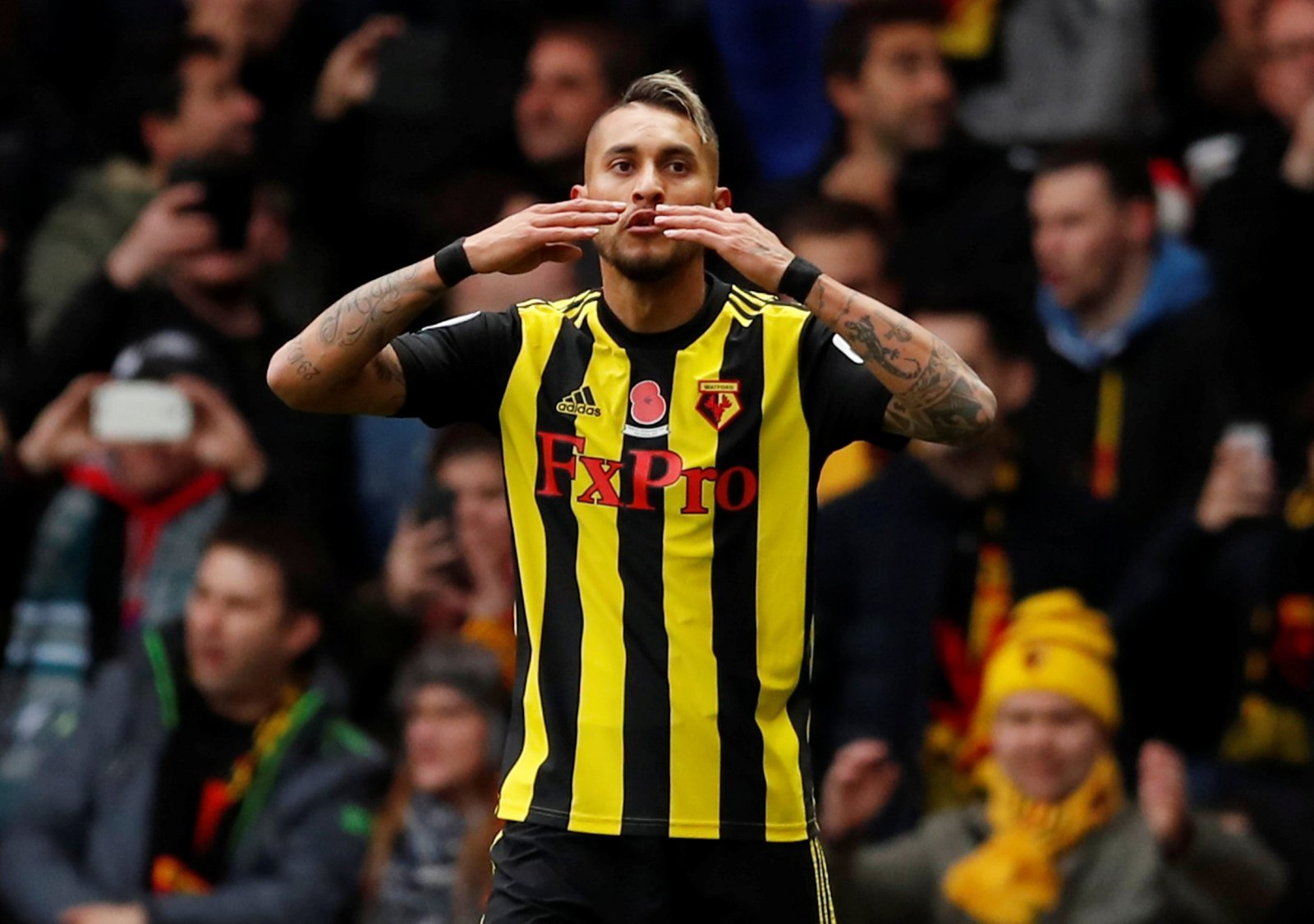 Roberto Pereyra would be wise to make the short journey from Watford to Tottenham