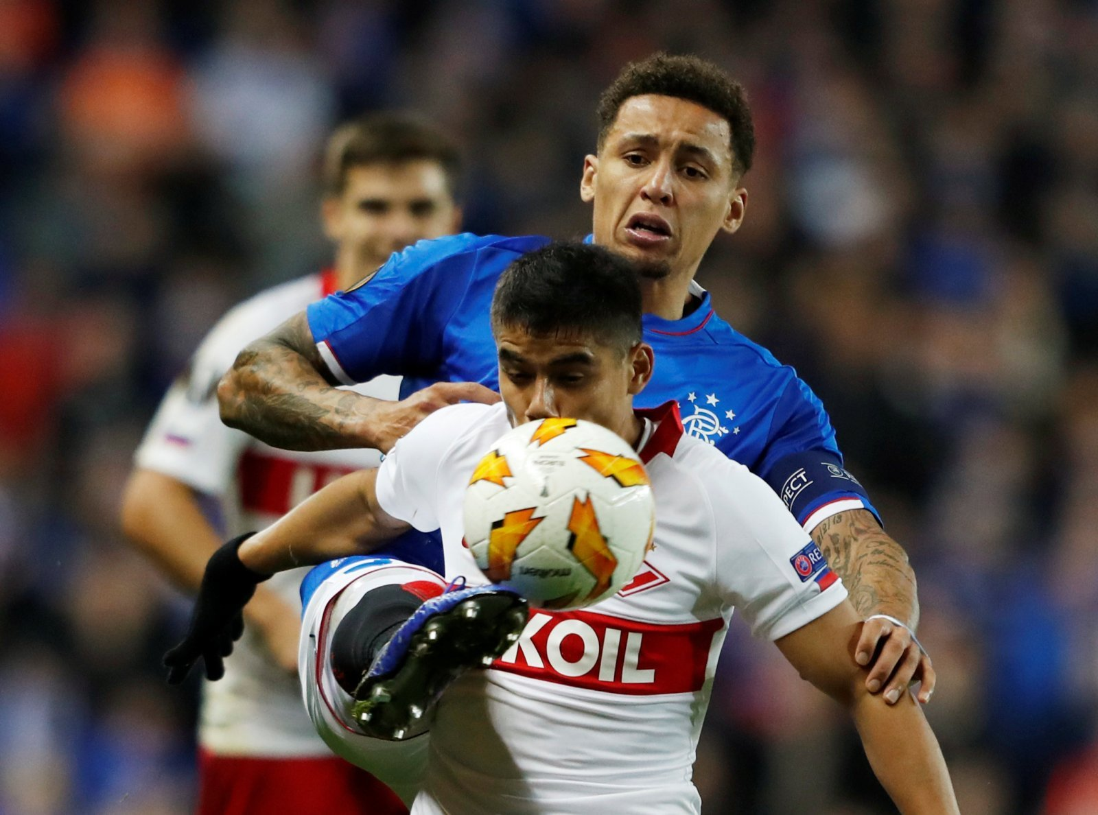 Rangers fans on Twitter really weren't pleased with James Tavernier's Europa League performance