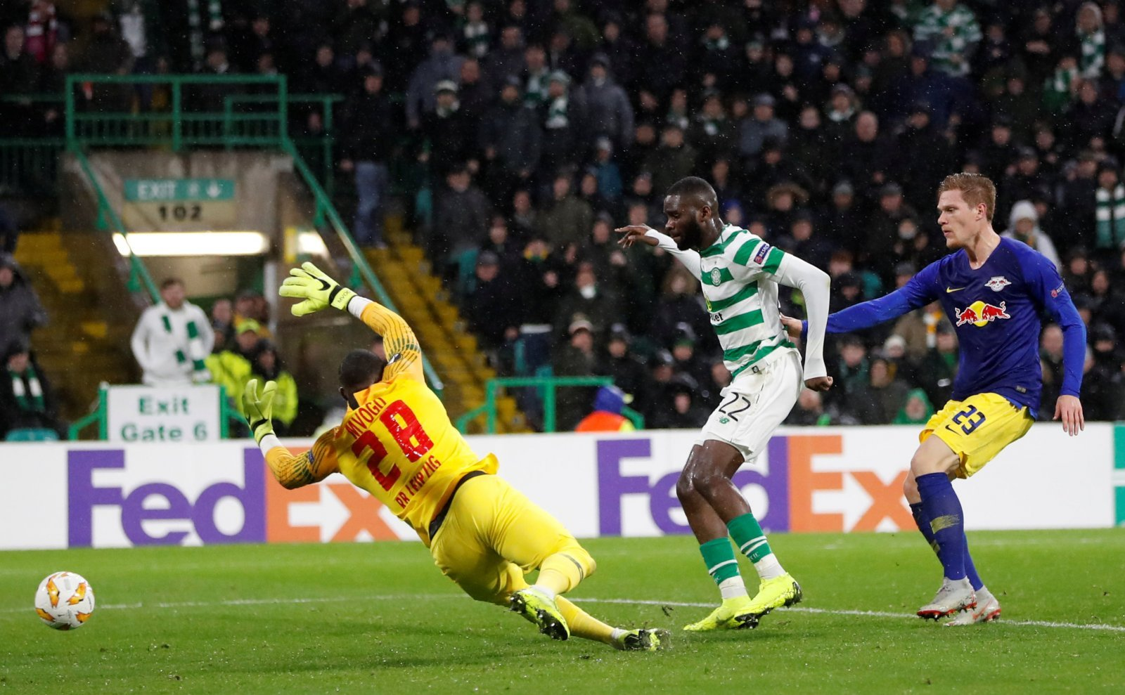 Celtic fans on Twitter were elated when Rodgers finally subbed Edouard