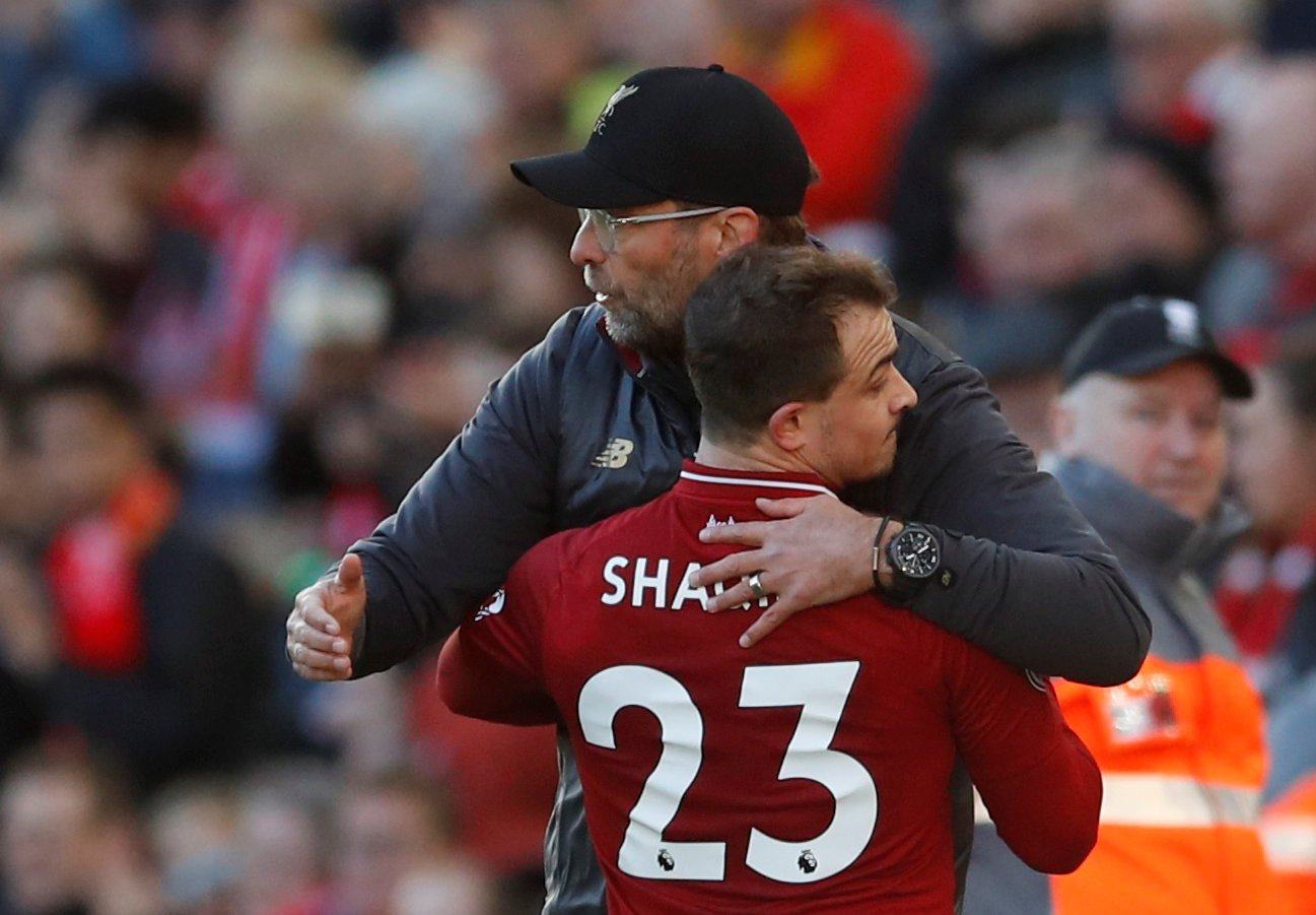 Liverpool fans on Twitter knew they'd beaten United when Shaqiri came on