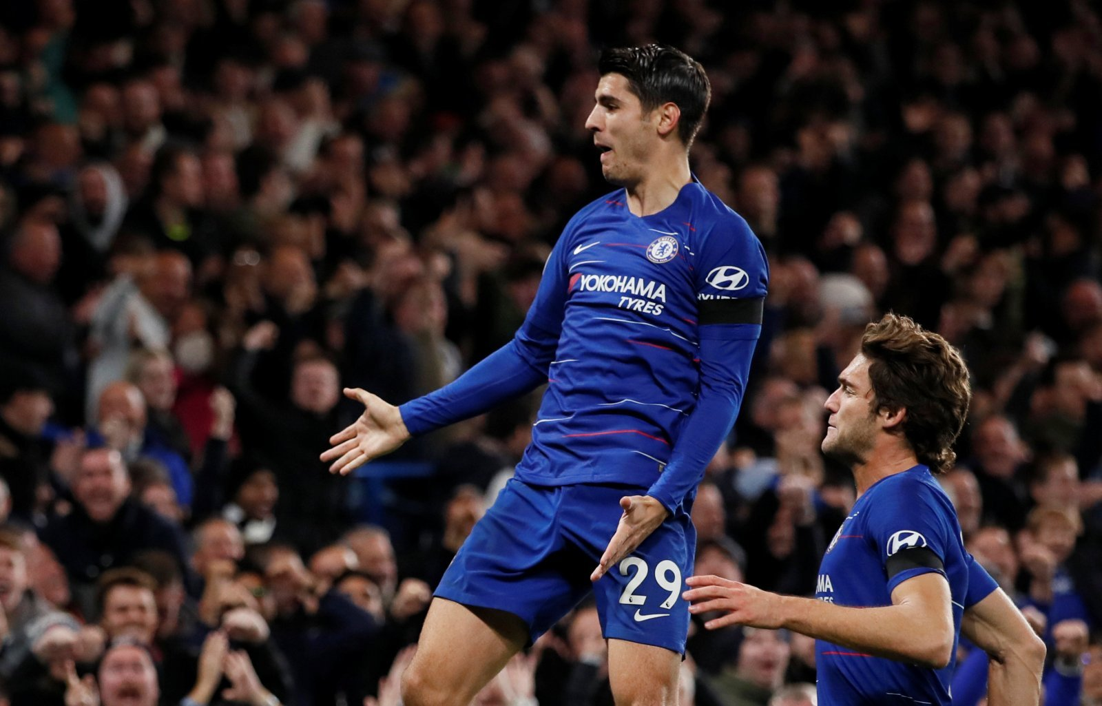 Alvaro Morata is back in form and Chelsea fans are absolutely loving it