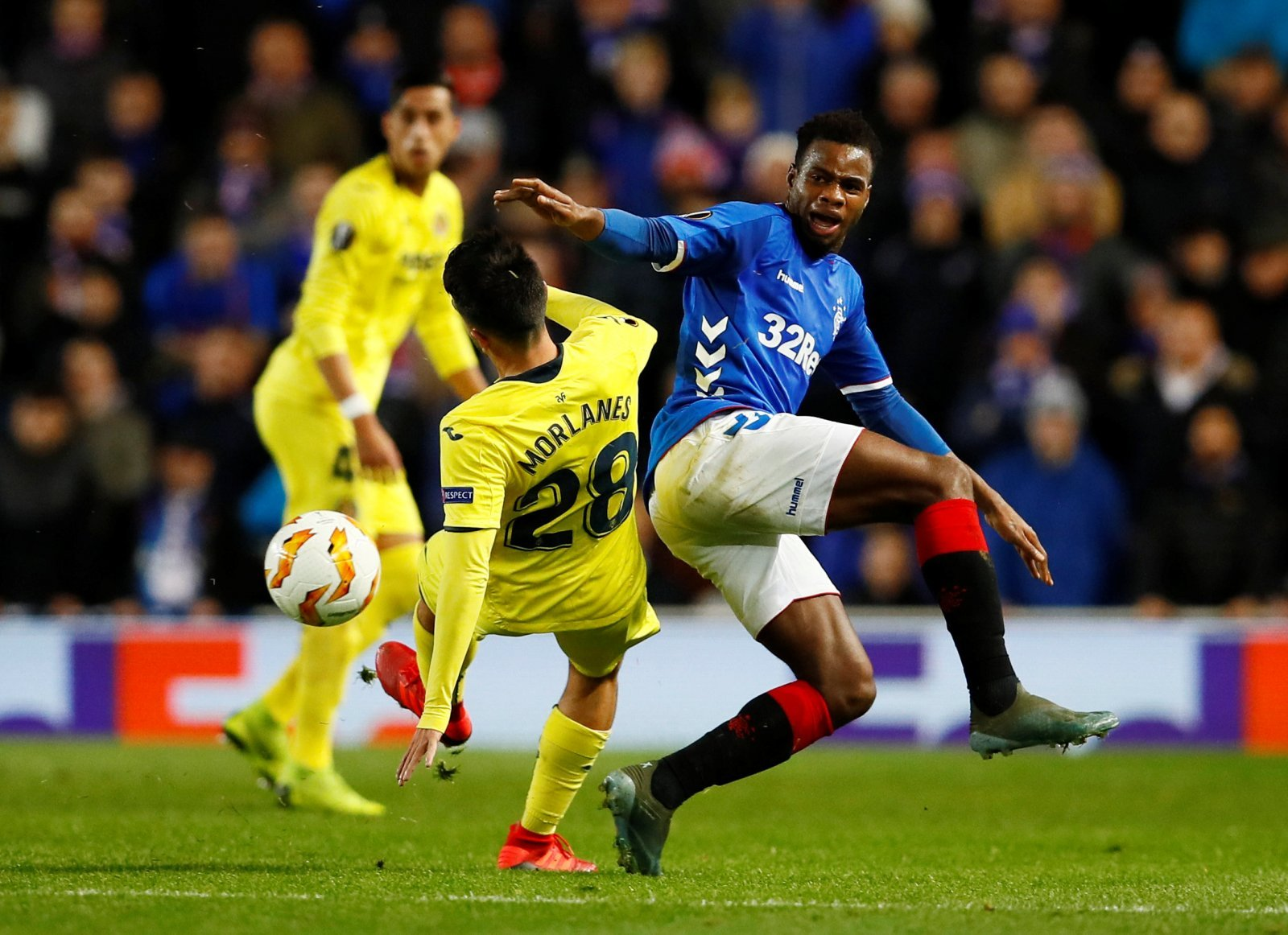 These Rangers fans destroy Lassana Coulibaly's performance against Rapid Vienna