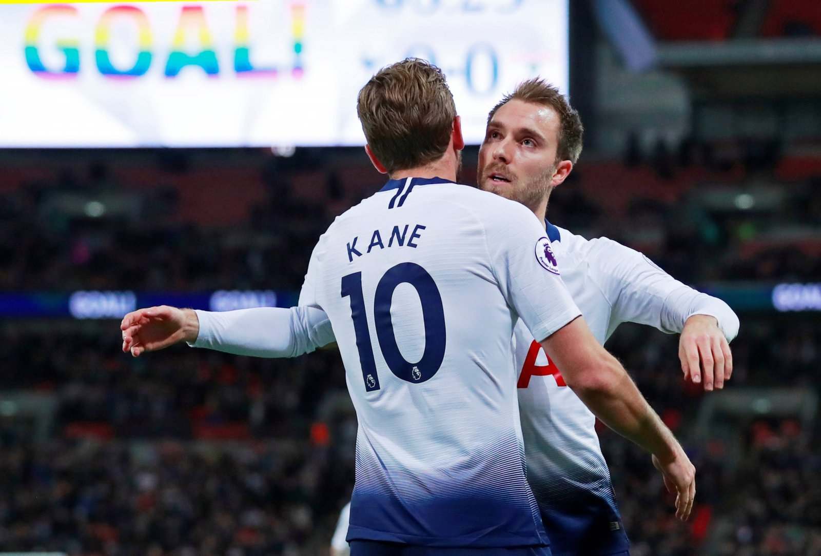 These Tottenham fans were thrilled with Christian Eriksen last night