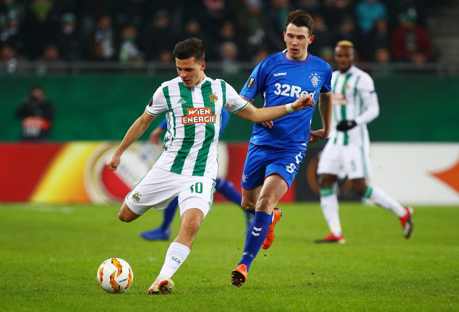 These Rangers fans were in awe of Jack Ryan's performance vs Rapid Vienna