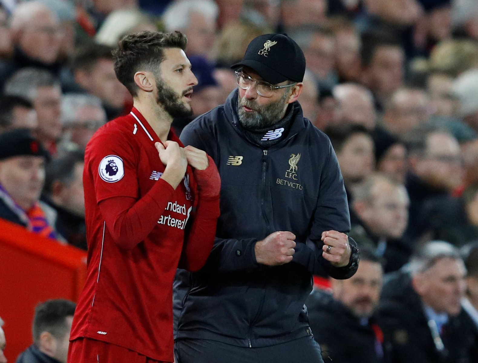 Liverpool fans on Twitter were raging when Lallana entered the fray at Goodison