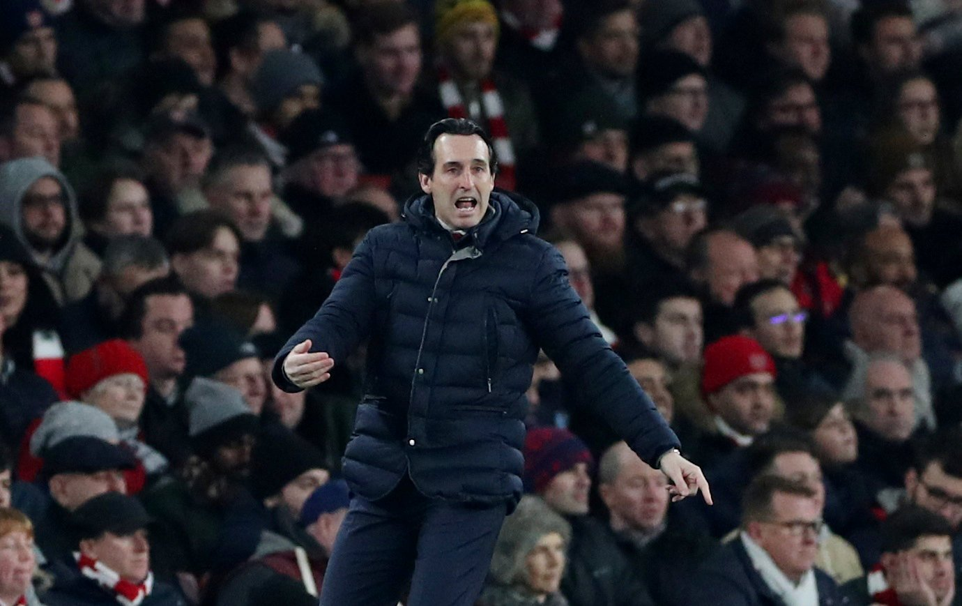 Arsenal fans were far from happy with Unai Emery in European embarrassment
