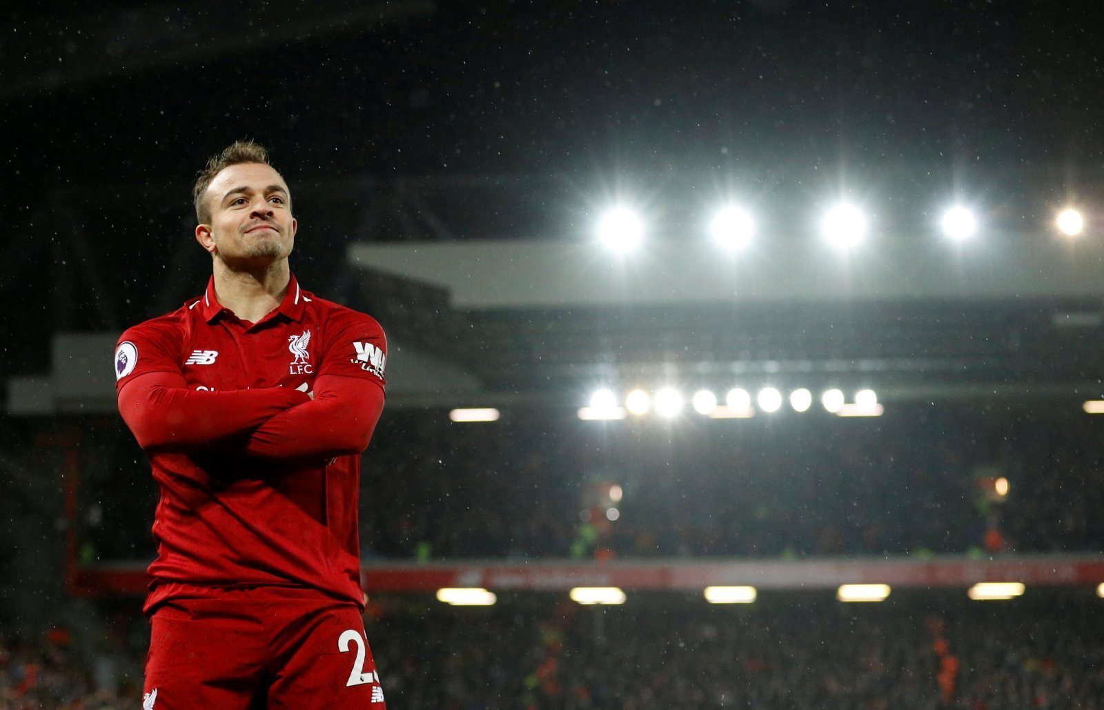 Liverpool fans took to Twitter to delight at Shaqiri's appearance yesterday