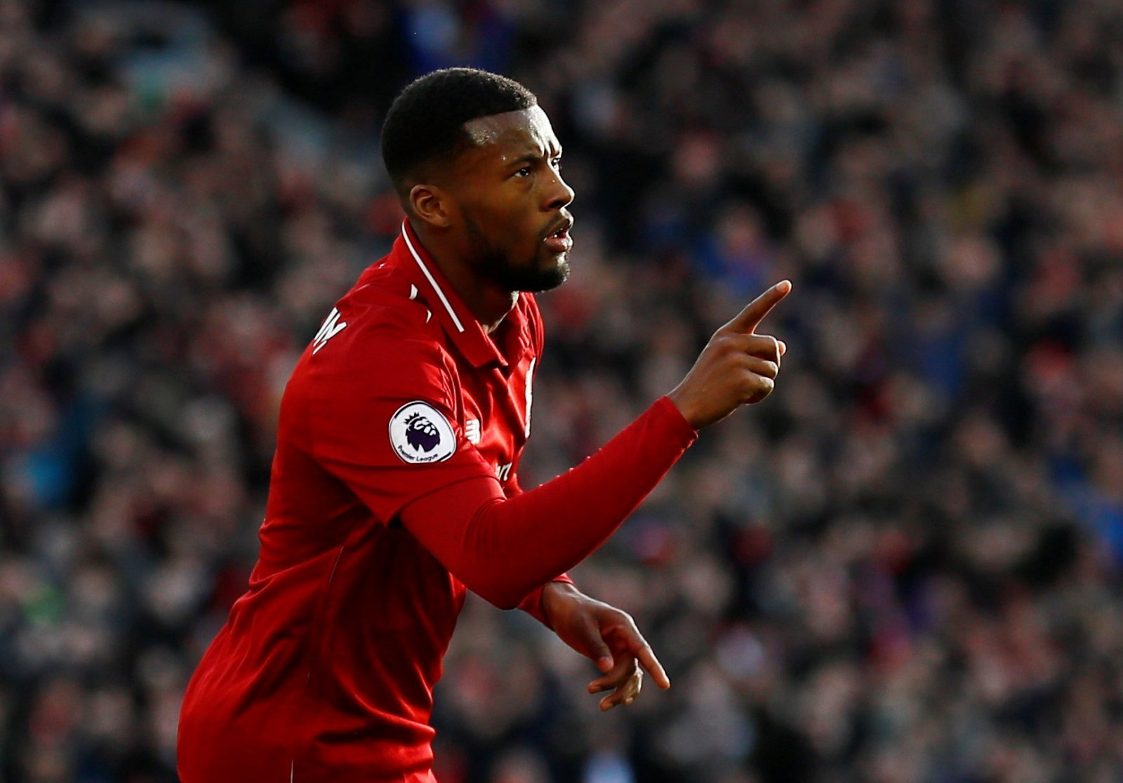Unsung Hero: Aside from his goal, Liverpool's Georginio Wijnaldum also got through plenty of graft against Everton