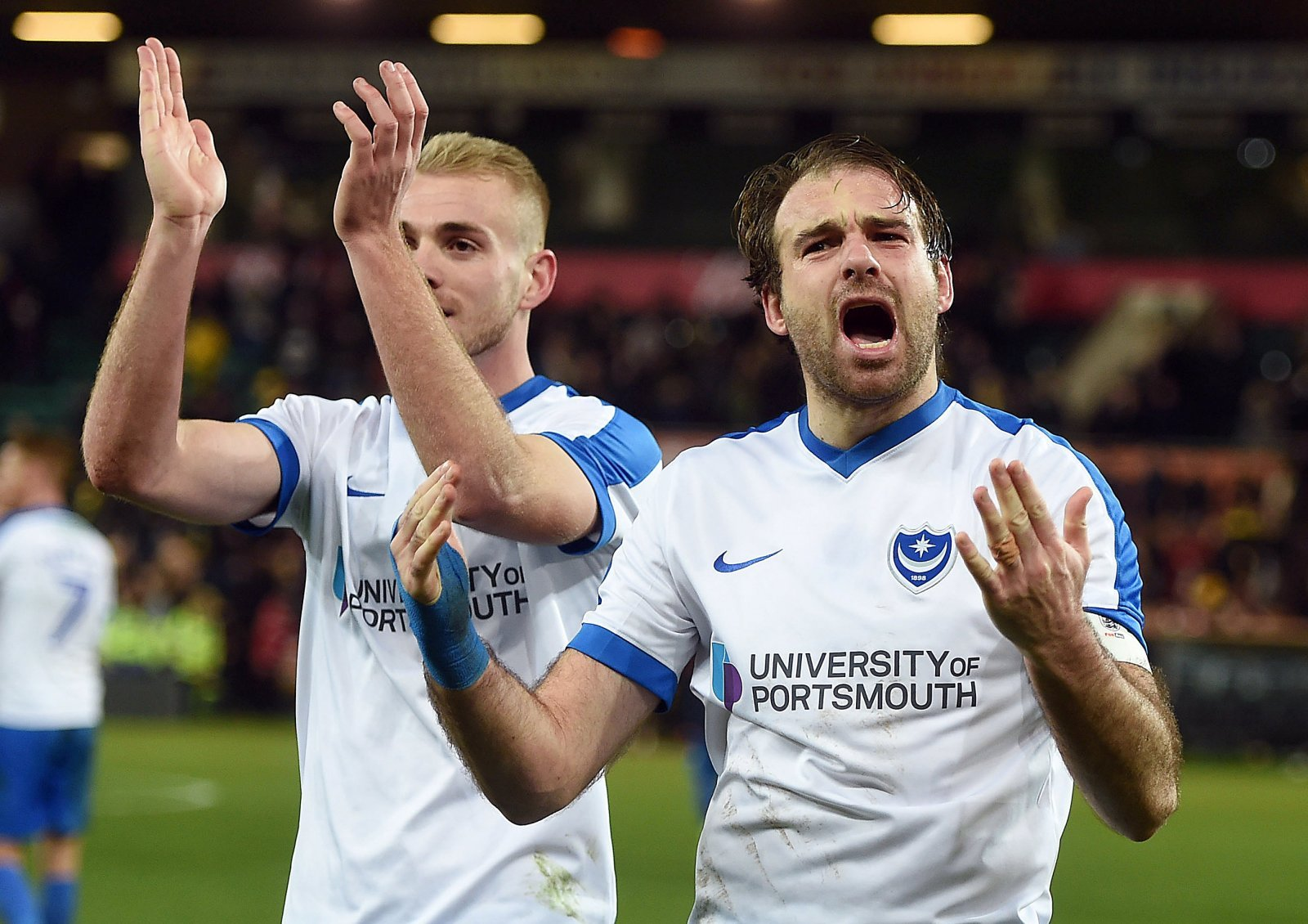 Portsmouth: Brett Pitman to miss AFC Wimbledon clash