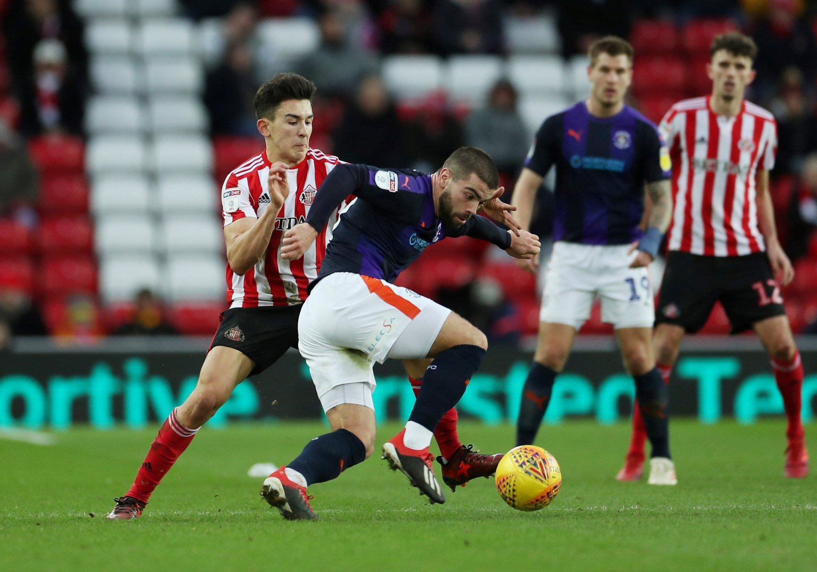 Sunderland: These fans didn't agree with Luke O'Nien's red card