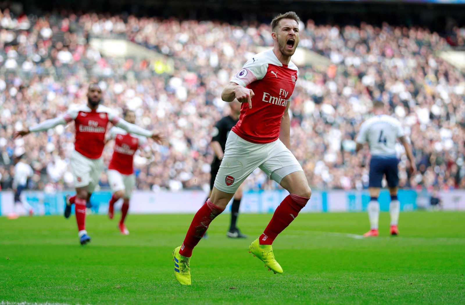 John Hartson: Aaron Ramsey's gone in there and showed great commitment