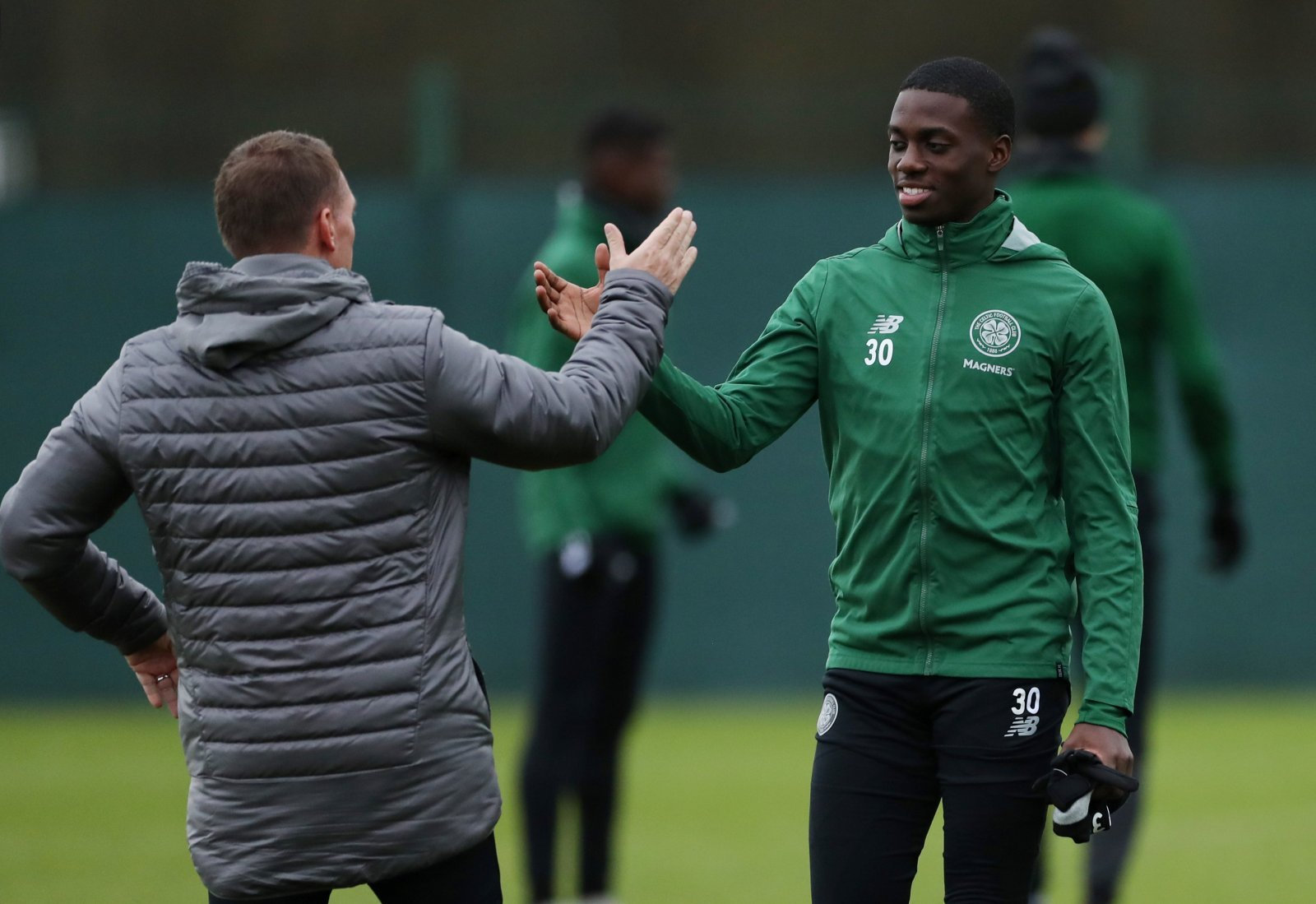 Celtic fans on Twitter all loved seeing Weah bag after starting
