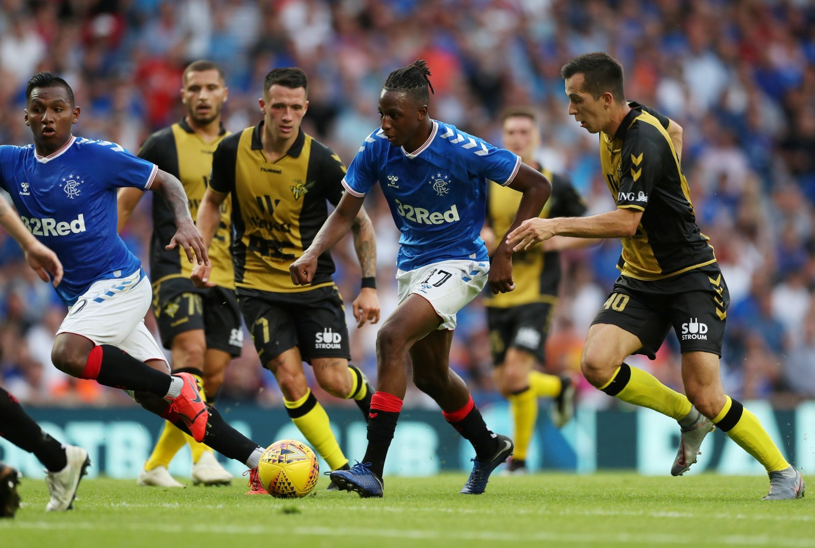 Rangers: Fans were delighted with Joe Aribo's performance against FC Midtjylland