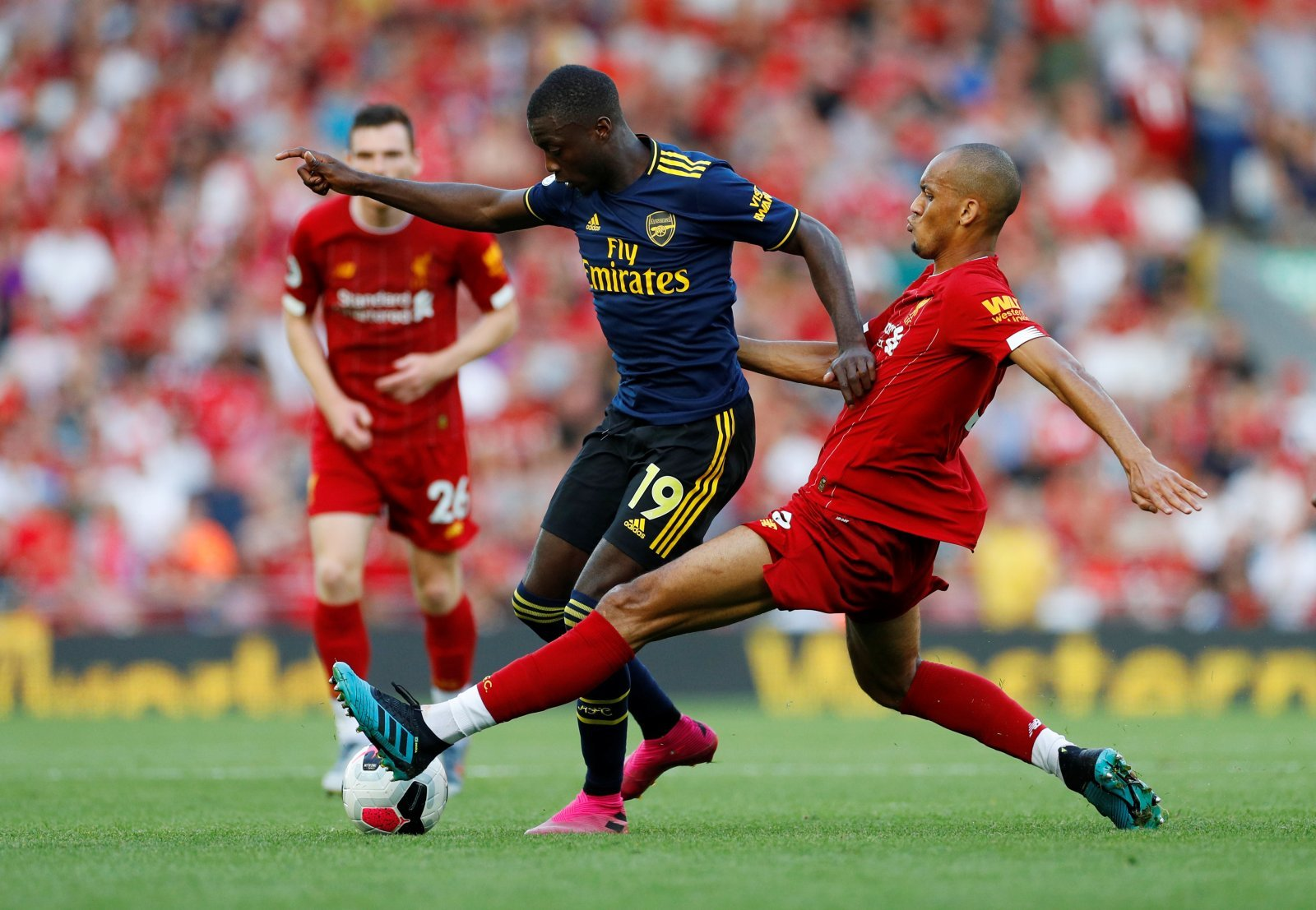 Unsung Hero: Liverpool's Fabinho impresses with a busy display against Arsenal