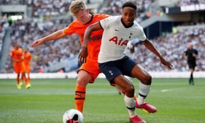 Newcastle United's Matt Ritchie in action with Tottenham Hotspur's Kyle Walker-Peters