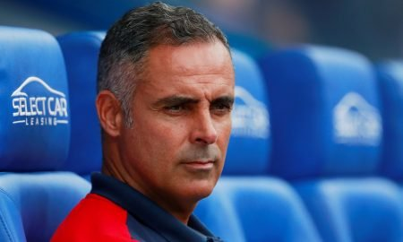 Reading manager Jose Manuel Gomes before the