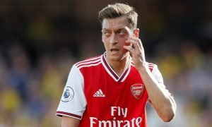 Arsenal's Mesut Ozil looks on v Watford