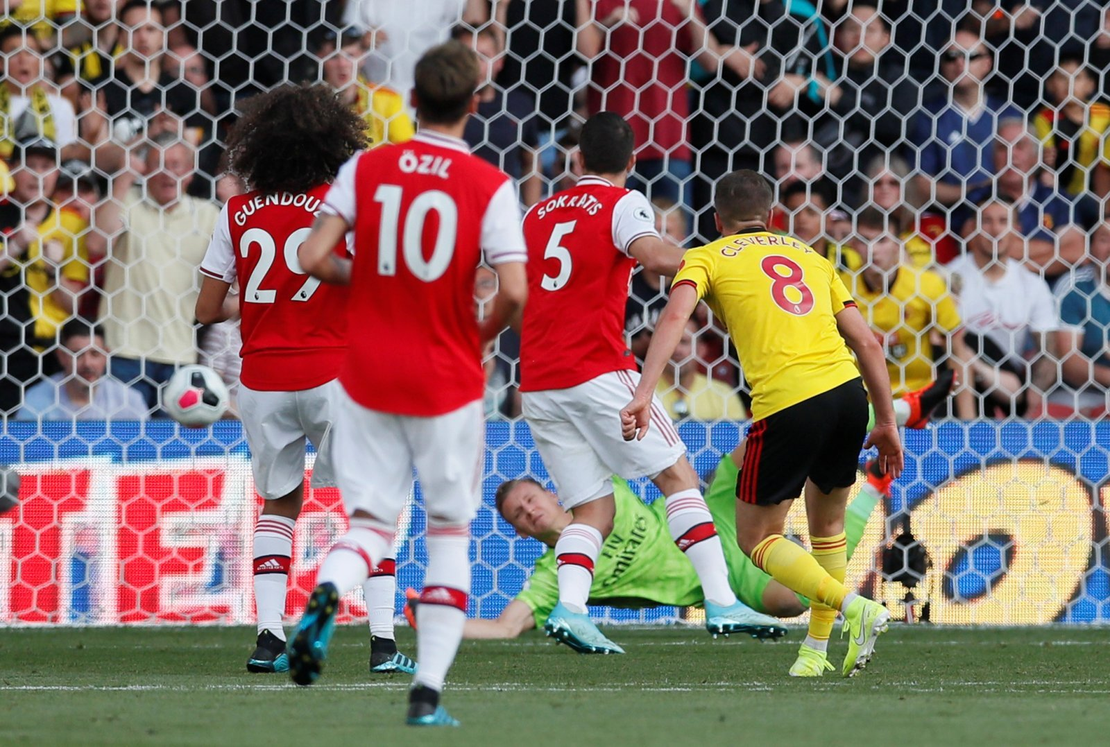 Watford: Fans left in no doubt that Tom Cleverley was the best player in yesterday's match