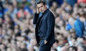 Everton manager Marco Silva looks on v Sheffield United