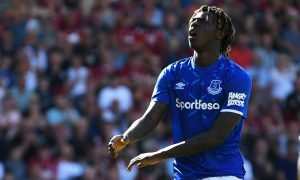 Everton's Moise Kean reacts v AFC Bournemouth