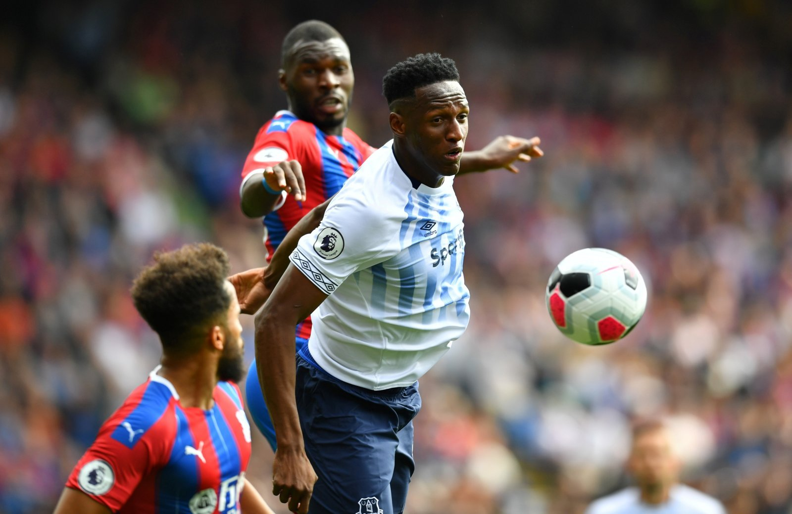 Everton: These fans have been left bemused as Yerry Mina receives fine