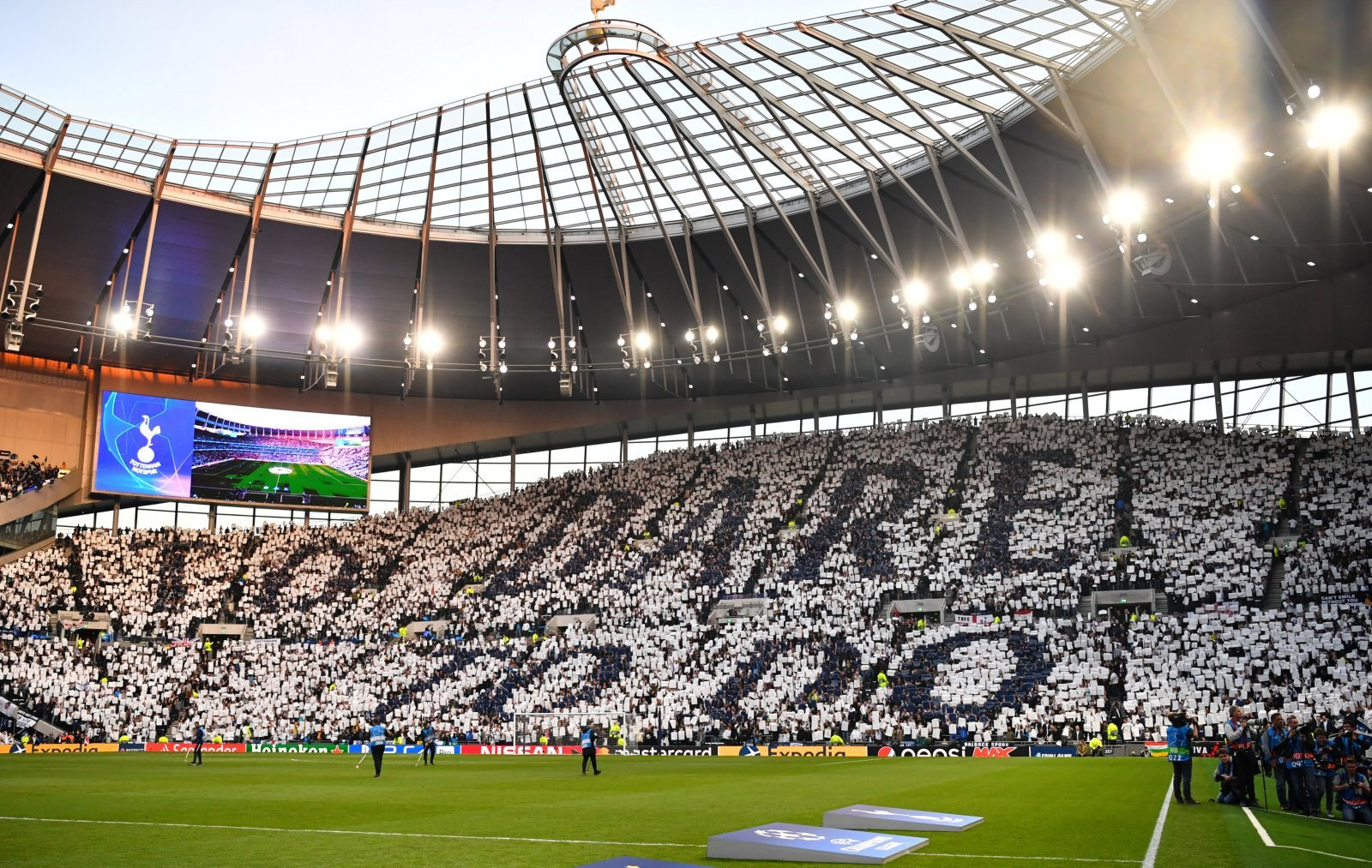 General View inside Tottenham Hotspur Stadium, Champions League Semi-Final v Ajax, April 2019