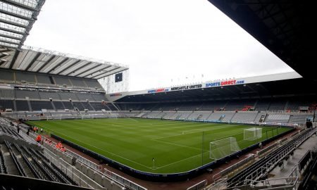 General view inside St. James' Park before the Newcastle v Watford match, August 2019