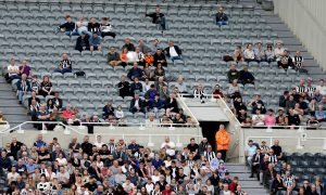 General view of Newcastle United fans and empty seats inside St. James' Park v Watford, August 2019