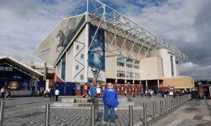 General view outside of Elland Road, home to Leeds United
