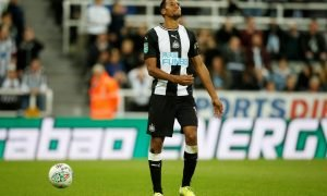 Isaac Haydena Newcastle United's Isaac Hayden looks dejected after missing a penalty in the Carabao Cup Second Round shoot-out v Leicester City