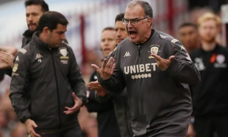 Leeds United manager Marcelo Bielsa reacts v Barnsley