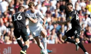 Leeds United's Patrick Bamford in action v Derby