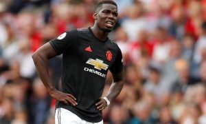 Manchester United's Paul Pogba reacts at Southampton