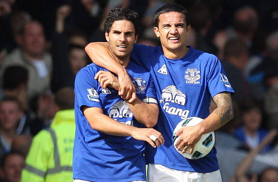 Everton: Fans react as Tim Cahill posts photo with Mikel Arteta