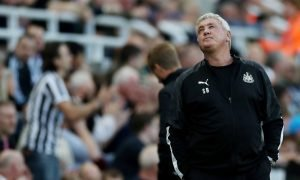 Newcastle United manager Steve Bruce reacts v Brighton & Hove Albion