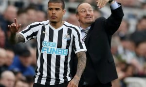 Newcastle United's Kenedy during the Huddersfield Town match, Feb 2019