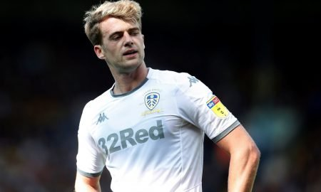 Patrick Bamford reacts v Swansea, August 2019