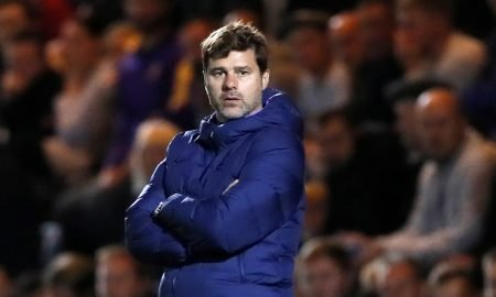 Tottenham Hotspur manager Mauricio Pochettino reacts as Spurs exit Carabao Cup away to League Two Colchester