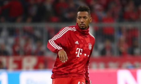 Bayern Munich's Jerome Boateng during the warm up before the Crvena Zvezda Champions League - Group B match